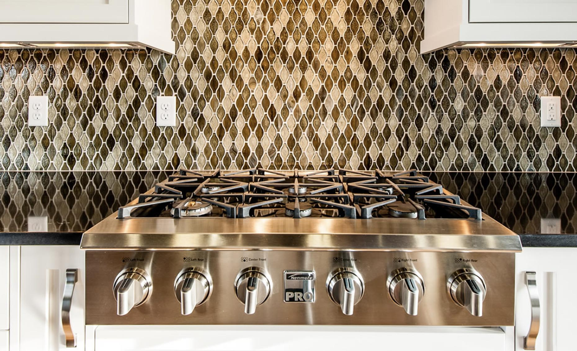 The Heavens Way House Stainless Steel Kenmore Gas Range Stovetop