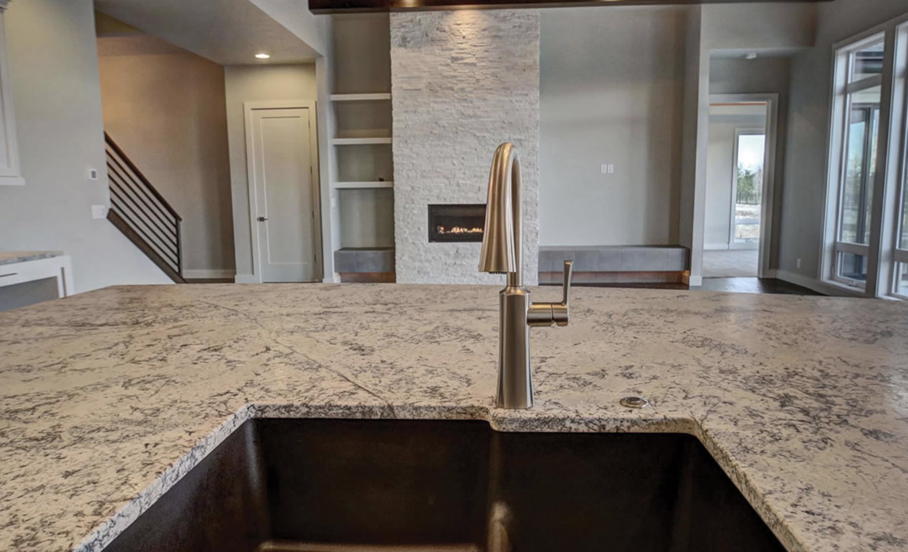 The Windbreaker House Kitchen Island Sink
