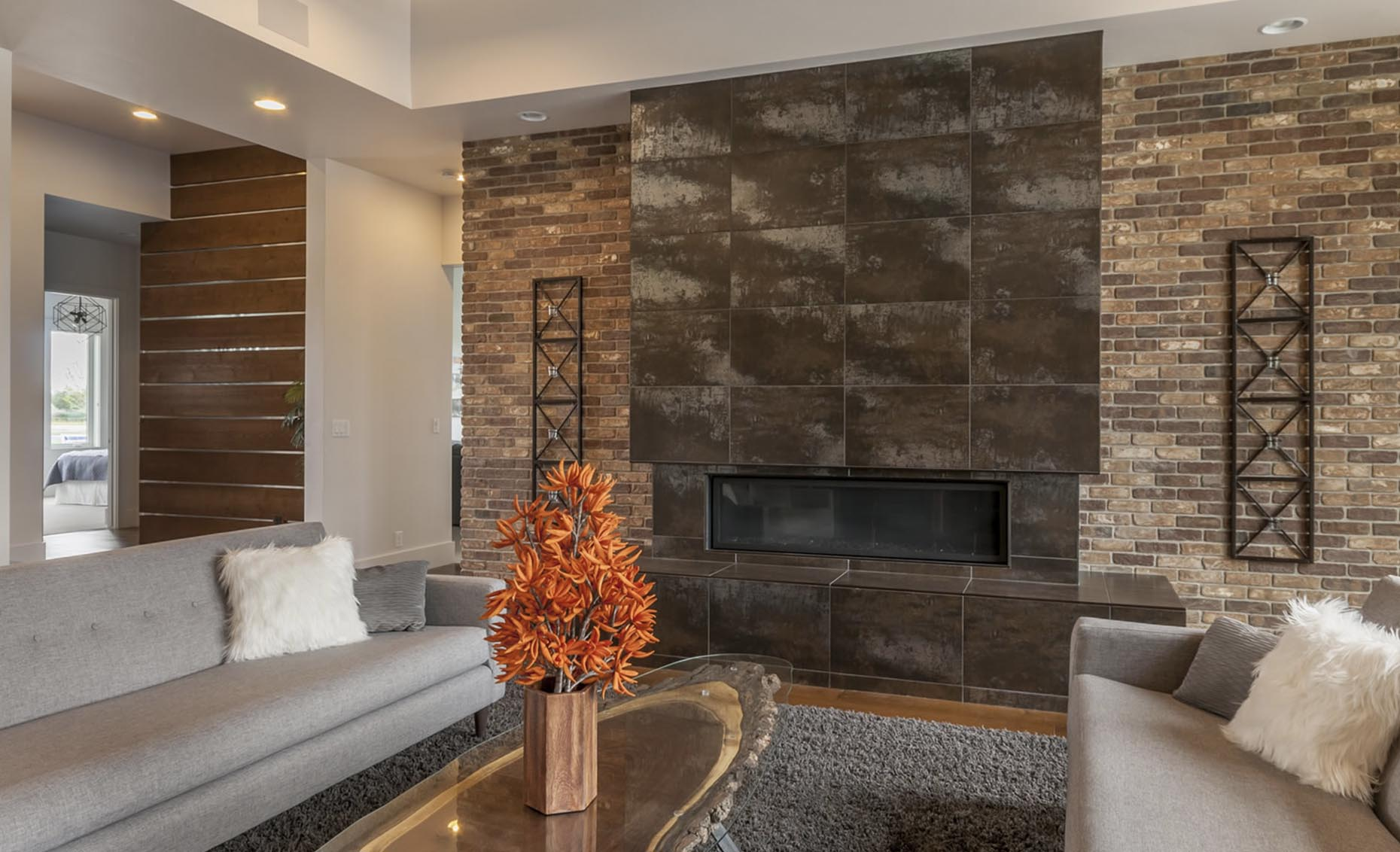 The Salmon Falls House Living Room Fireplace