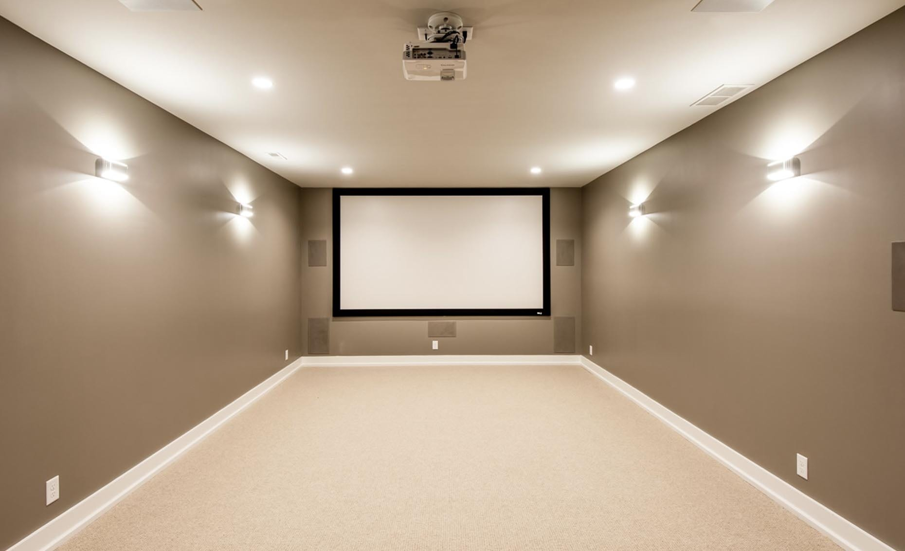 The Bungalow House In-Home Movie Theatre