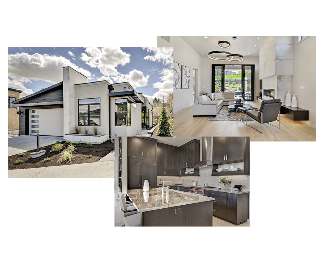 Syringa Construction of Idaho House Image Collage